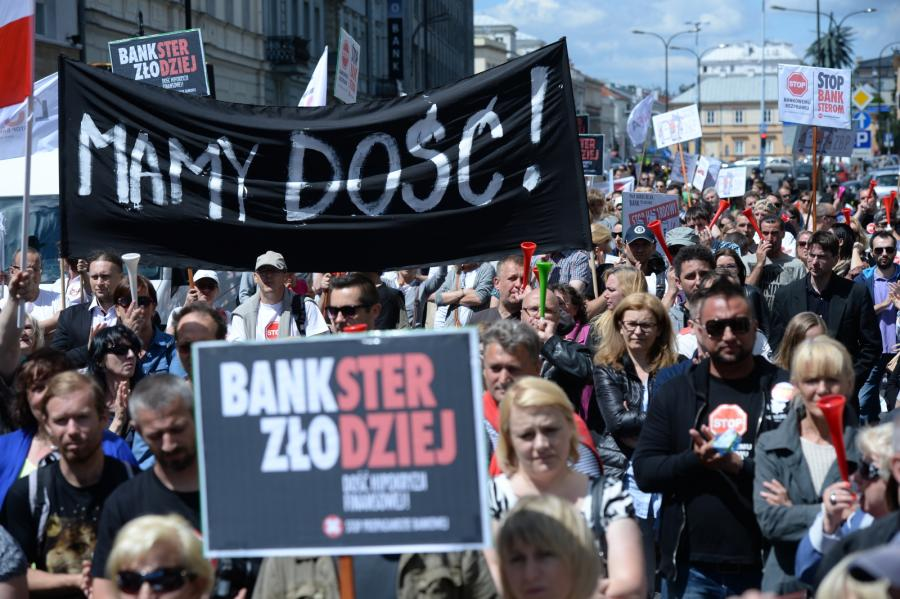 Warszawa frankowicze manifestacja