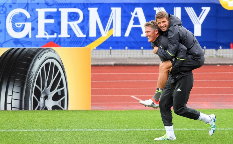 Bastian Schweinsteiger i Thomas Mueller
