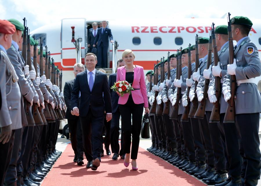 Wizyta prezydenta RP Andrzeja Dudy z małżonką w Republice Federalnej Niemiec