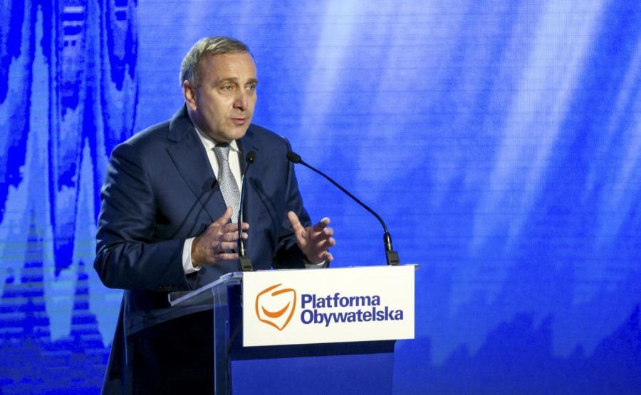 Wystąpienie lidera Platformy Obywatelskiej Grzegorza Schetyny