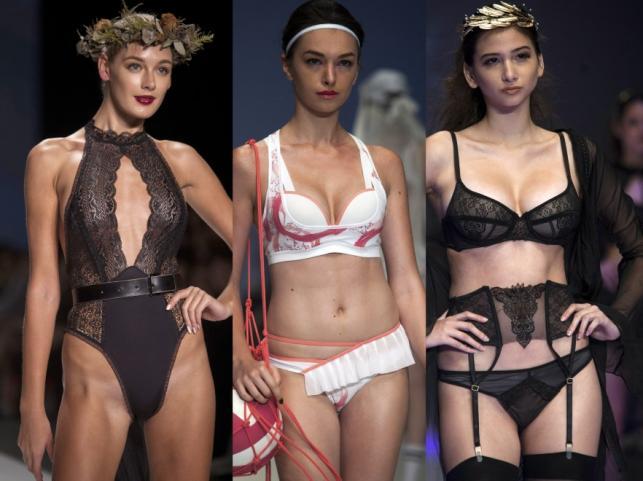 Pokaz bielizny na tygodniu mody w Hongkongu