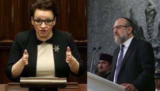 Anna Zalewska i Michael Schudrich