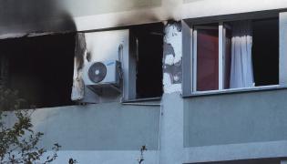 Zniszczenia w bloku mieszkalnym przy ul. Śliskiej 10 w Warszawie