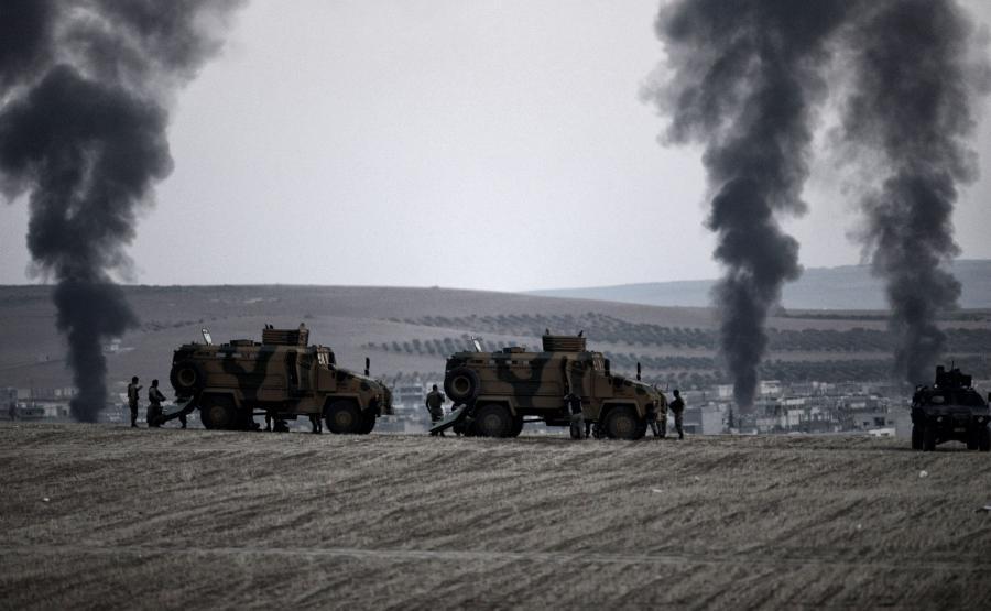 Tureckie oddziały wojskowe na granicy z Syrią