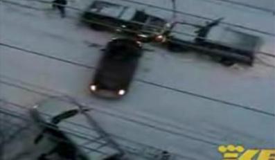 Tak kierowcy tańczą na lodzie