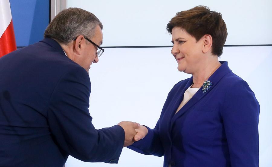 Andrzej Adamczyk i Beata Szydło