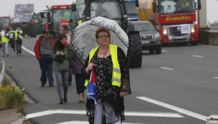 Blokada autostrady do Calais