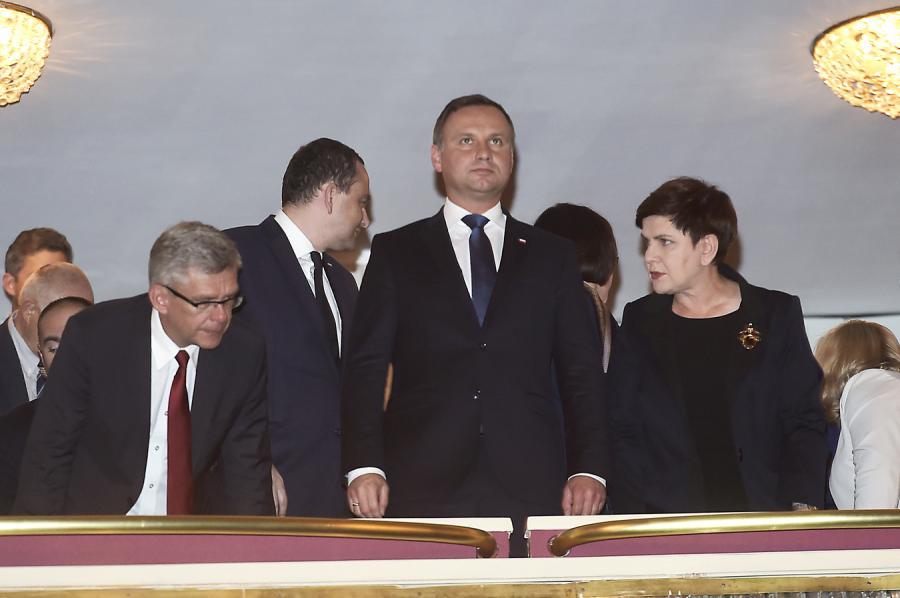 """prezydent Andrzej Duda na premierze """"Smoleńska"""""""
