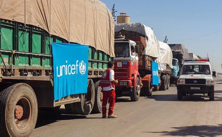 Konwój z pomocą humanitarną w drodze do Aleppo