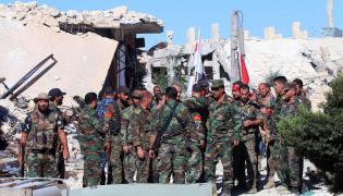 Żołnierze Asada w Syrii