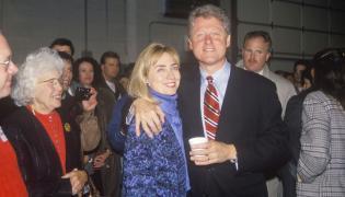 Bill i Hillary Clinton podczas kampanii wyborczej w 1992 roku