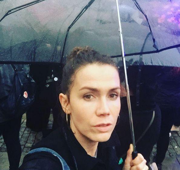 """Olga Bołądź na """"czarnym proteście"""""""