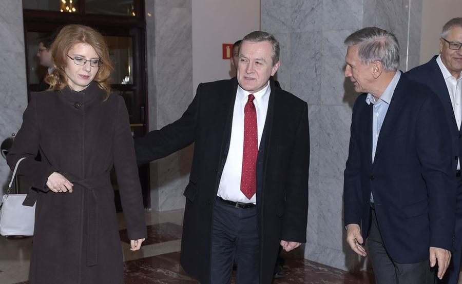 Jan Englert, Piotr Gliński i Renata Koźlicka-Glińska