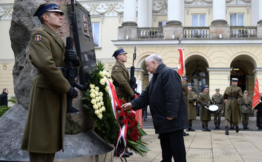 Uroczystość w 14. rocznicę zaprzysiężenia Lecha Kaczyńskiego na prezydenta stolicy