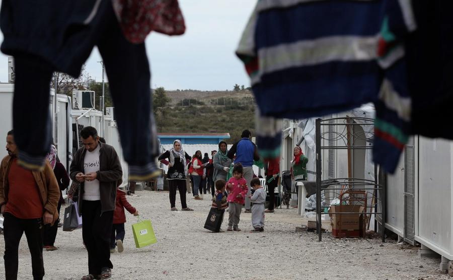 Ośrodek dla uchodźców w Grecji