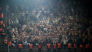 Kibice Legii na meczu w Dortmundzie