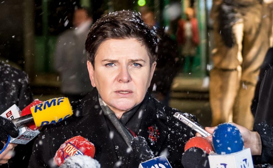 Premier Beata Szydło w kopalni Rudna w Polkowicach
