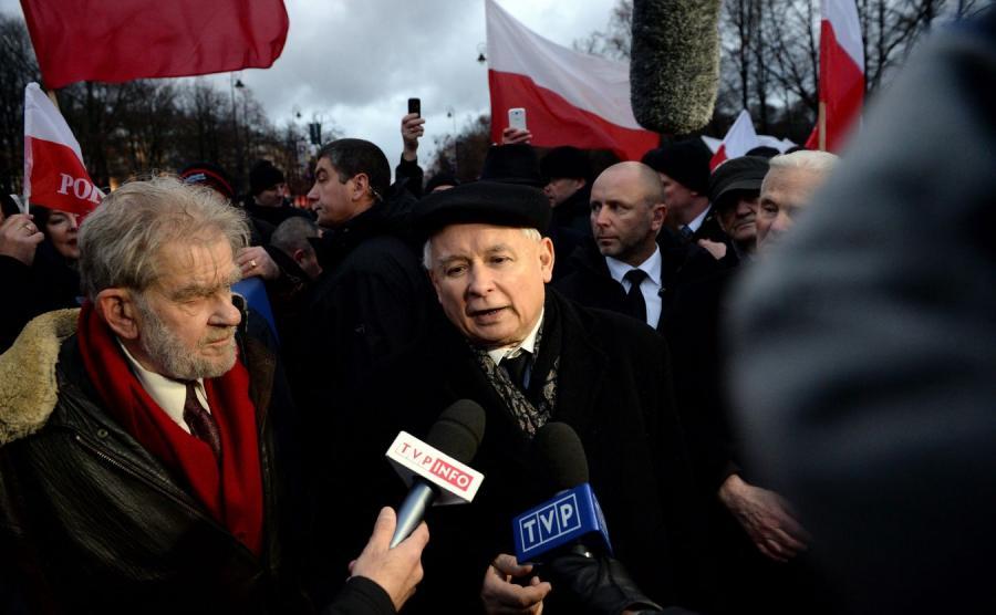 Jarosław Kaczyński na Marszu Wolności i Solidarności