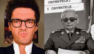 Kuba Wojewódzki i Jarosław Kaczyński jako generał Jaruzelski