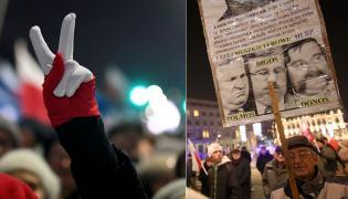 Manifestacja KOD i manifestacja PiS