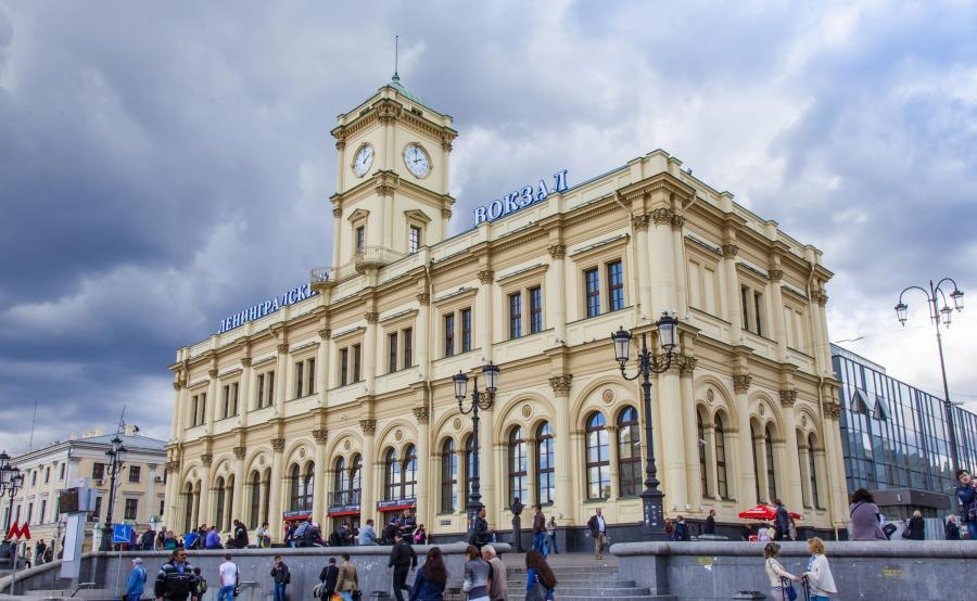 Dworzec Leningradzki w Moskwie