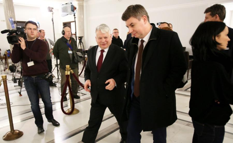 Jan Grabiec i Bogdan Borusewicz