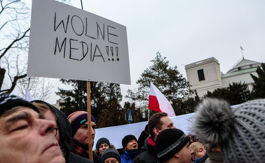 Protest przed Sejmem 17 grudnia 2016 roku