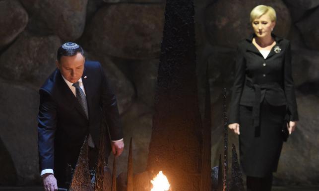 Para prezydencka z wizytą w Izraelu. Andrzej Duda: Nie może być zgody na nienawiść i antysemityzm