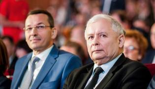 Mateusz Morawiecki i Jarosław Kaczyński na kongresie Impact'16 Economy