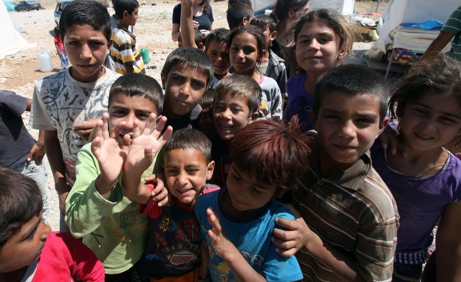 Dzieci z Syrii w obozie dla uchodźców