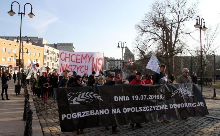 Protest w Opolu
