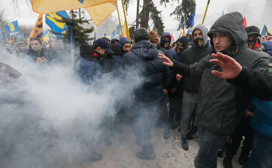 Nacjonaliści protestowali w Kijowie