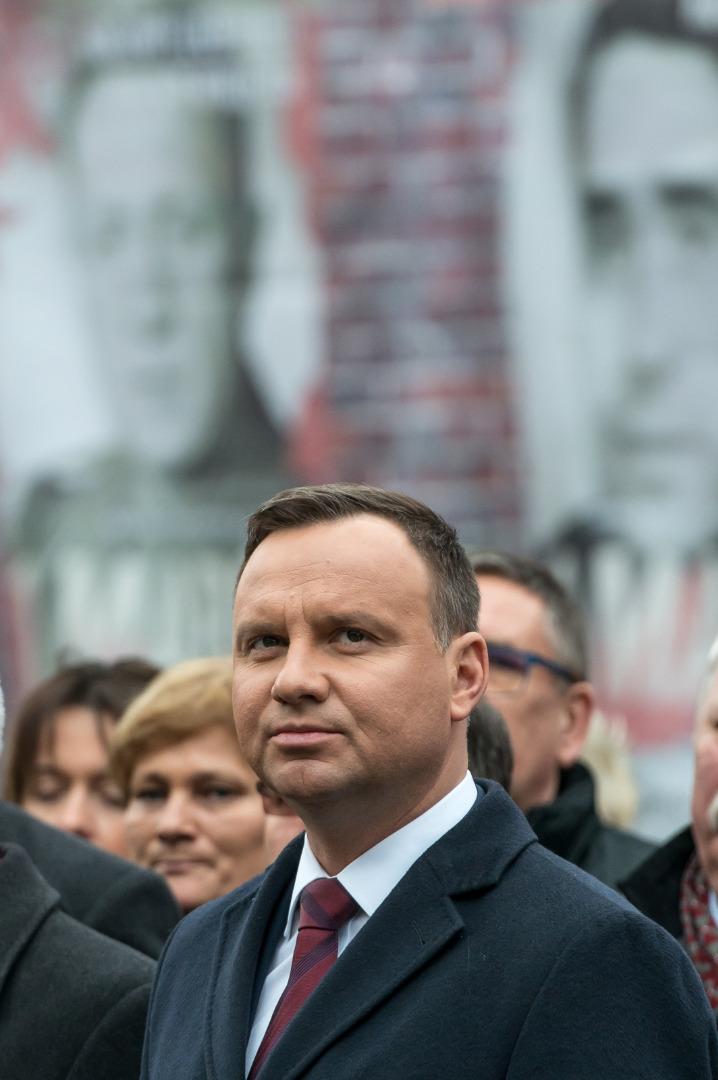 Andrzej Duda w czasie uroczystości