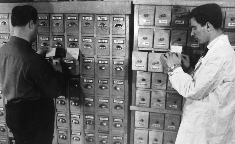 Szuflandia - katalog biblioteczny. Tak wyglądała policyjna kartoteka sprzed 45 lat