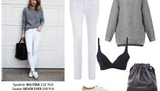 STYLIZACJE z białymi spodniami